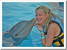 PV Press Trip Steph and a Dolphin