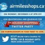 Holiday Shopping Twitter Party! #AIRMILESSHOPS