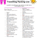 The Ultimate Travelling Packing List!