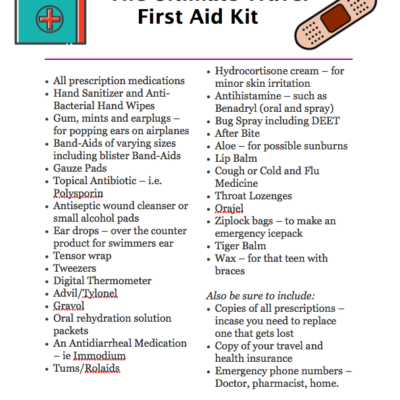 The Travellers First Aid Kit