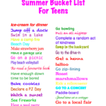 Summer Bucket List For Tweens and Teens!