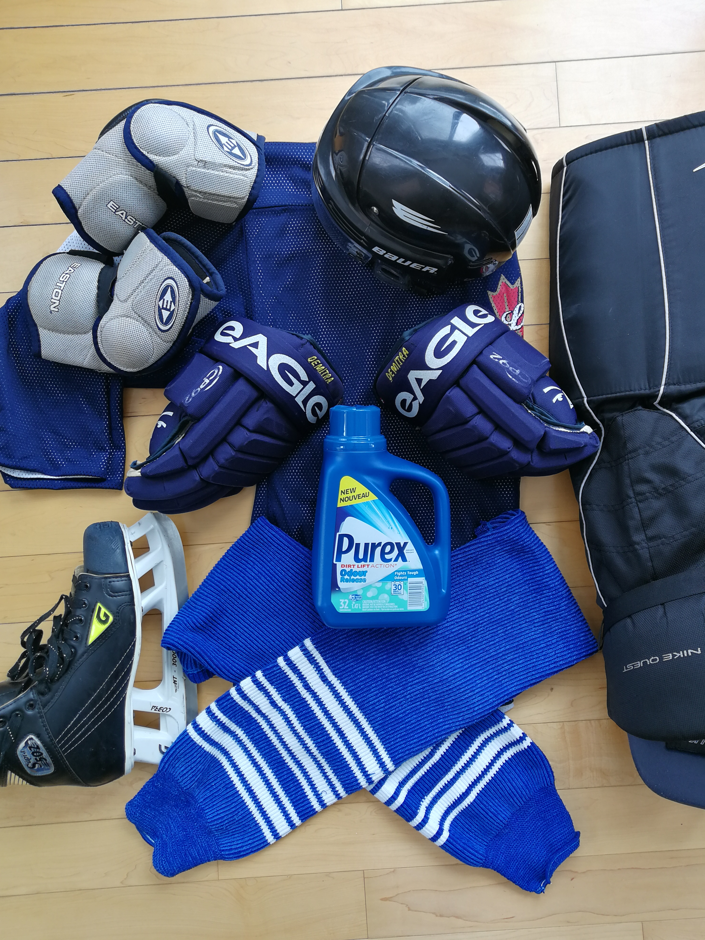 3ad3e8223 Do you wash the hockey equipment that lives in your house  Here are some  stats that will be of interest to you. A recent Purex survey